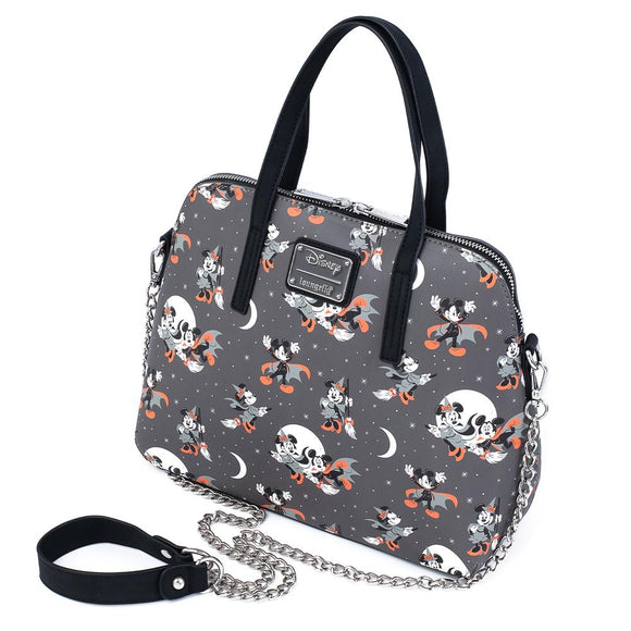 Mickey and Minnie Halloween AOP Loungefly Crossbody