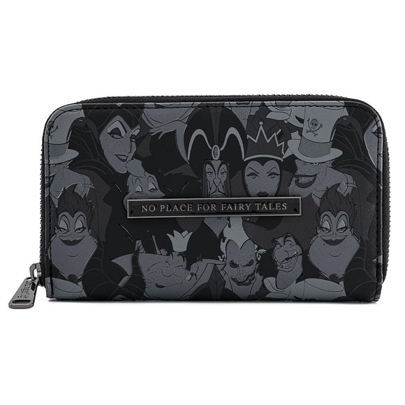 Disney Villains Debossed AOP Loungefly Wallet