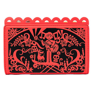 Coco Diecut Party Flags Loungefly Wallet