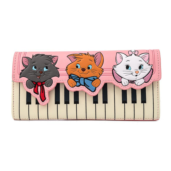 Aristocats Piano Kitties Trifold Loungefly Wallet