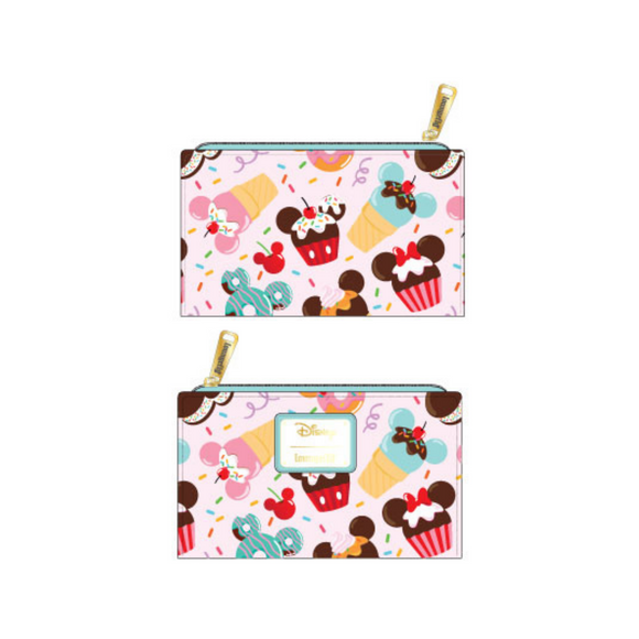 (February Catalog Pre-Order) Mickey and Minnie Ice Cream Loungefly Wallet