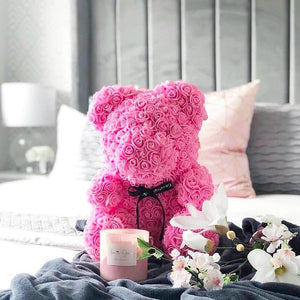 Handmade Rose Teddy Bear