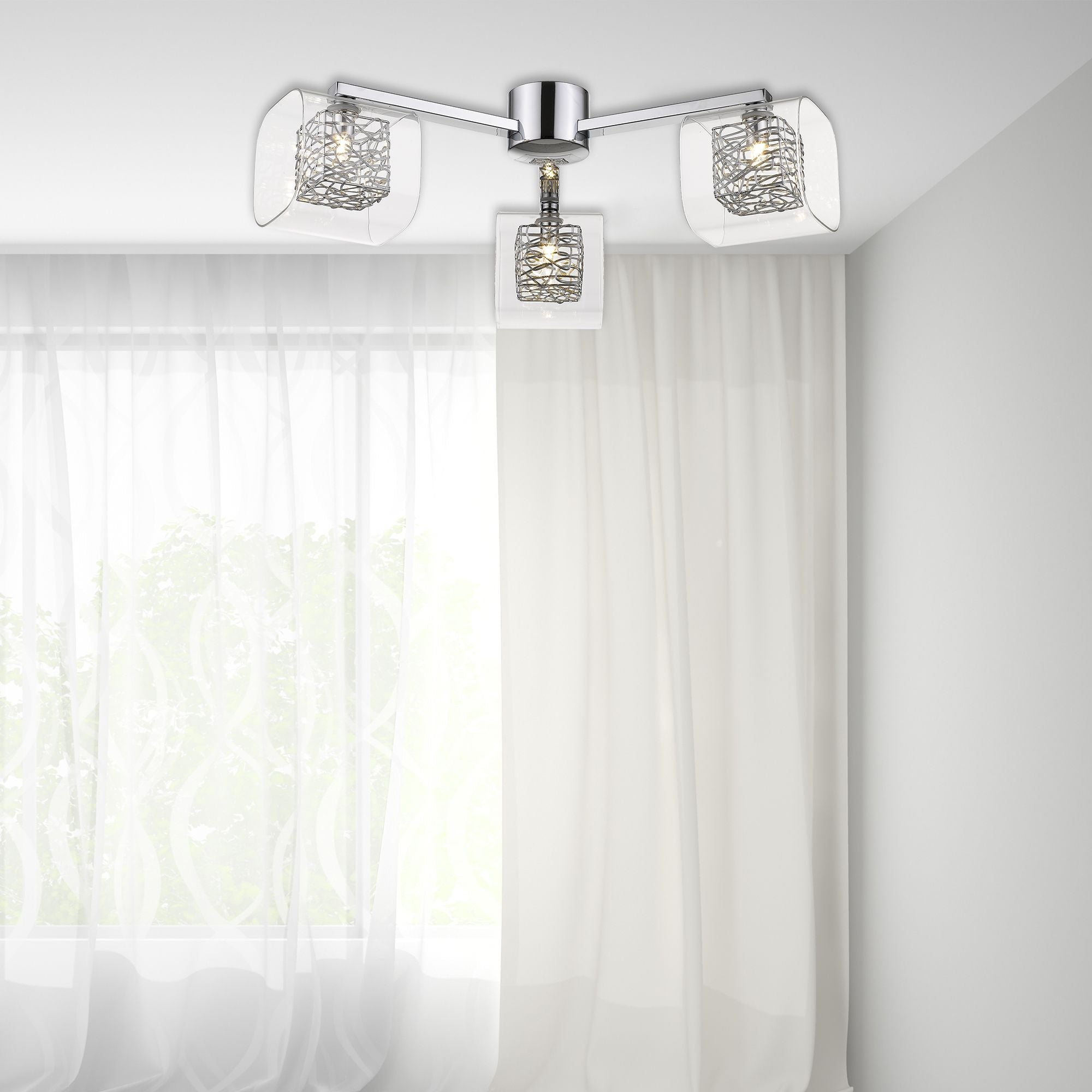 Lawson 3 Light Flush - Chrome or Copper