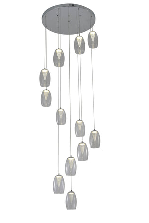 Open image in slideshow, Callas 12 Light Led Round Pendant