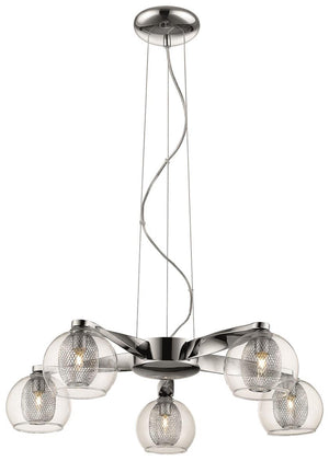 Open image in slideshow, Newman 5 Light Pendant - Chrome or Copper
