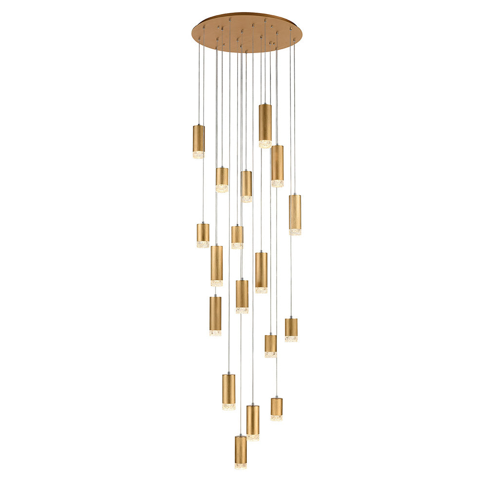 Champney 18 Light Round Cluster Pendant - Gold