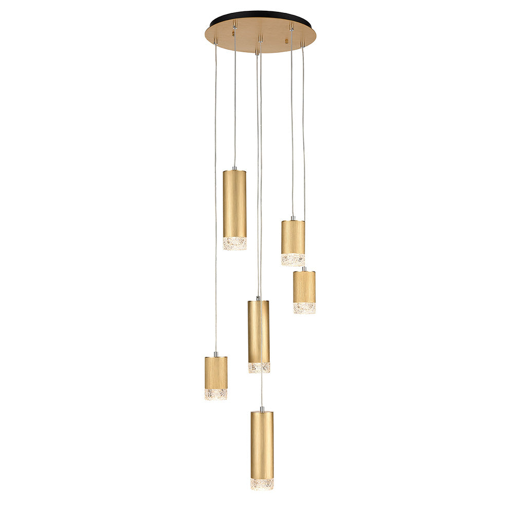 Champney 6 Light Round Cluster Pendant - Gold