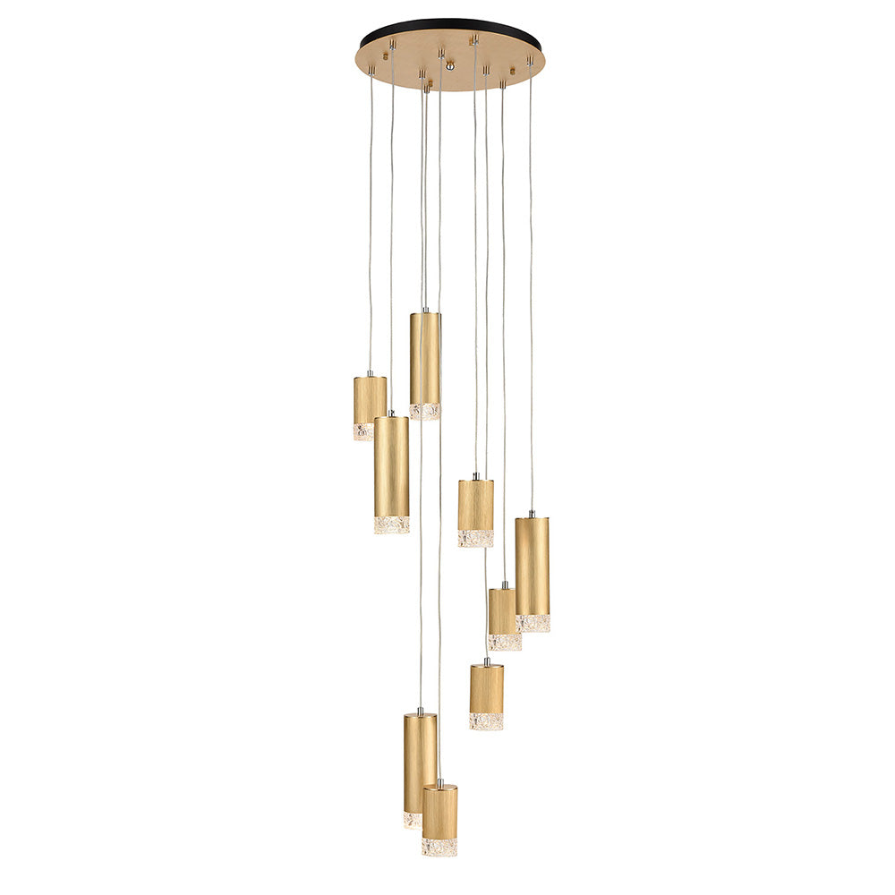 Champney 9 Light Round Cluster Pendant - Gold