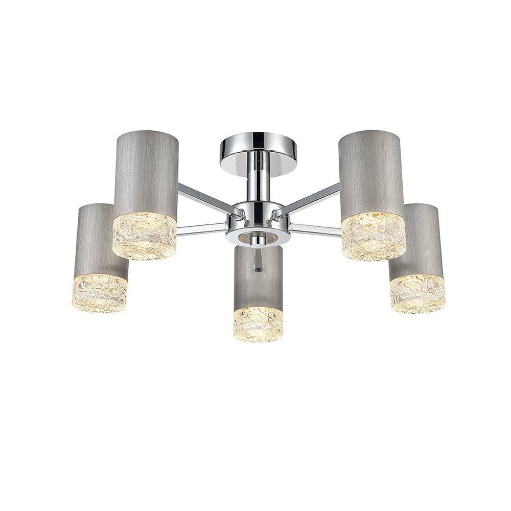 Champney 5 Light Semi-Flush - Silver