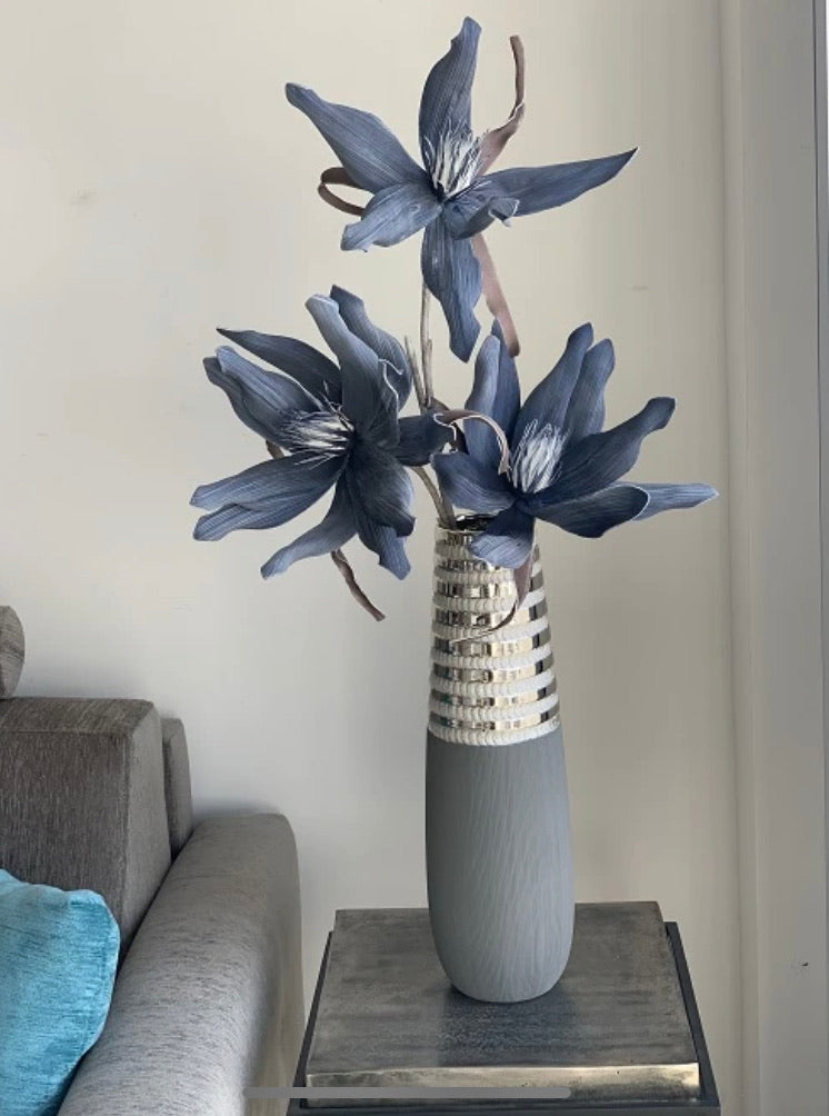 Dark Blue Foam Flowers