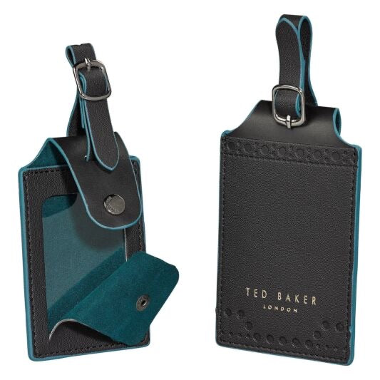 Ted Baker Black Brogue Luggage Tag Set