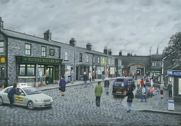 Leigh Lambert 'On The Cobbles' Limited Edition - Canvas