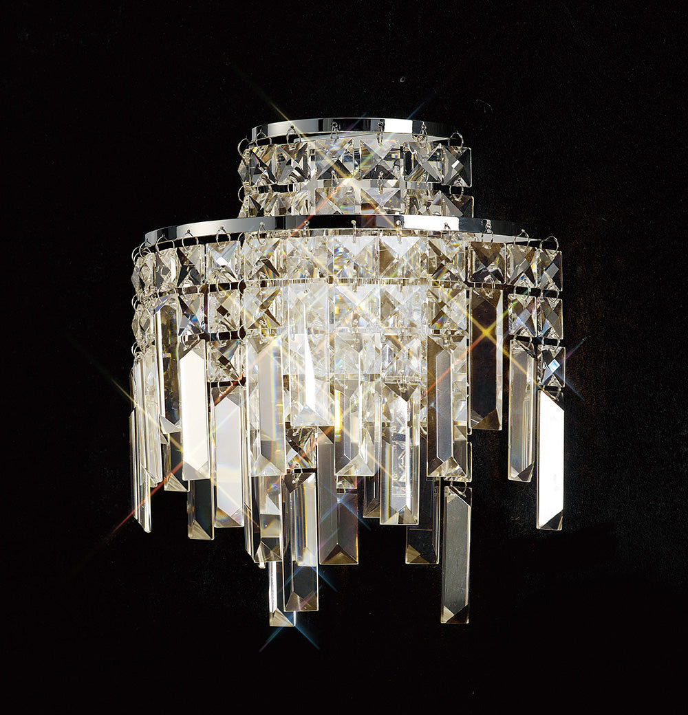 Millias Crystal Double Wall Light
