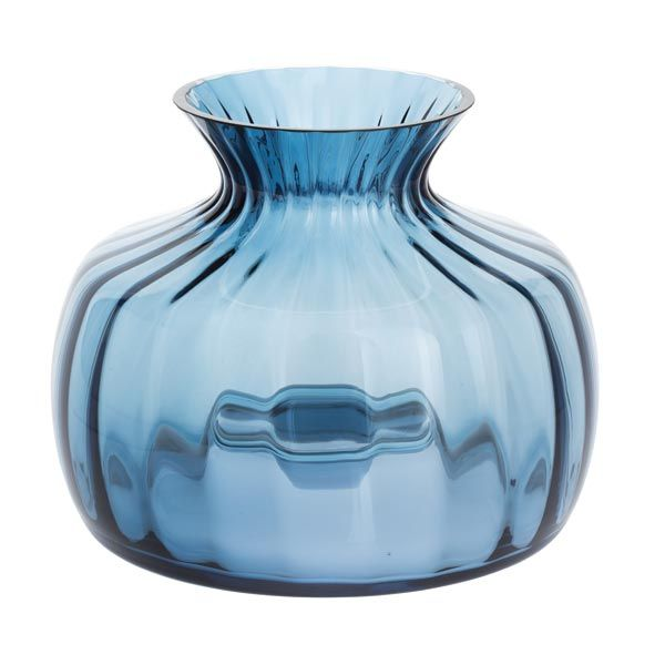 Dartington Medium Ink Blue Cushion Vase