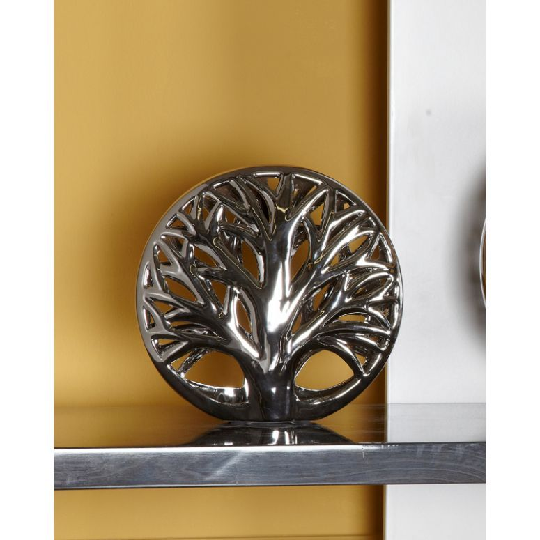 Silver Tree 3D Disk Interior Decoration