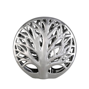 Open image in slideshow, Silver Tree 3D Disk Interior Decoration