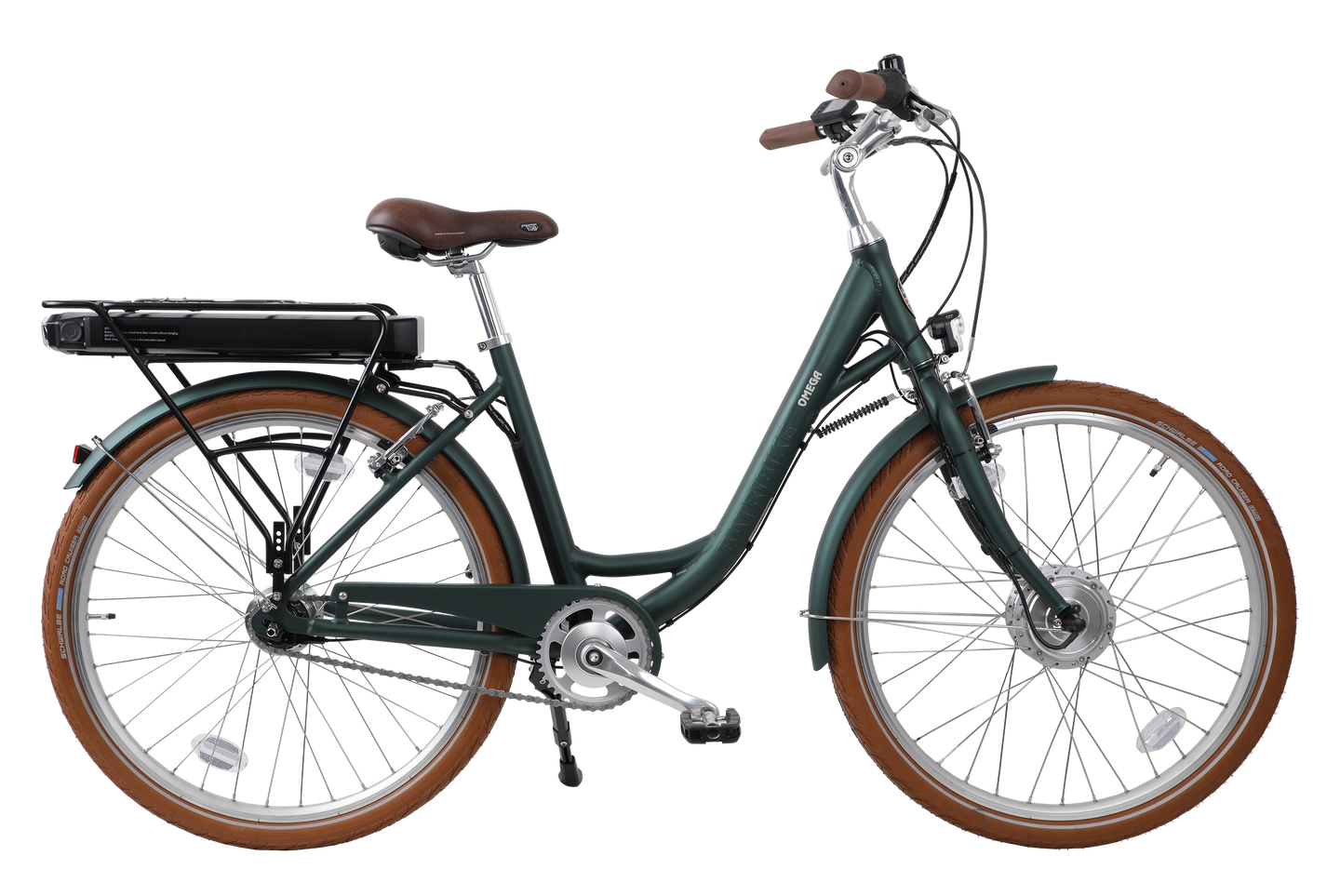 Omega step through, low seat electric bike with 26