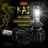 Kai Akarui Led Headlight Bulbs Conversion Kit - H13 (9008)