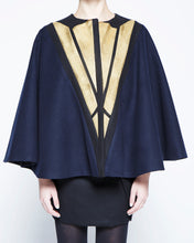 Load image into Gallery viewer, Blue Black Cape, Metallic Lights.
