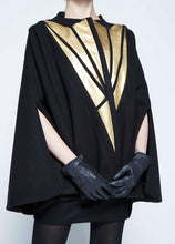 Load image into Gallery viewer, Black Gold Cape, Metallic Lights.