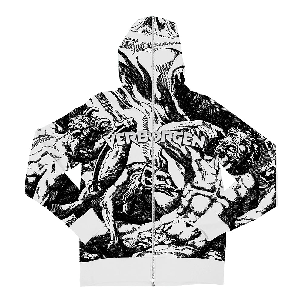 Borgen's Wonderland Zip Up - White