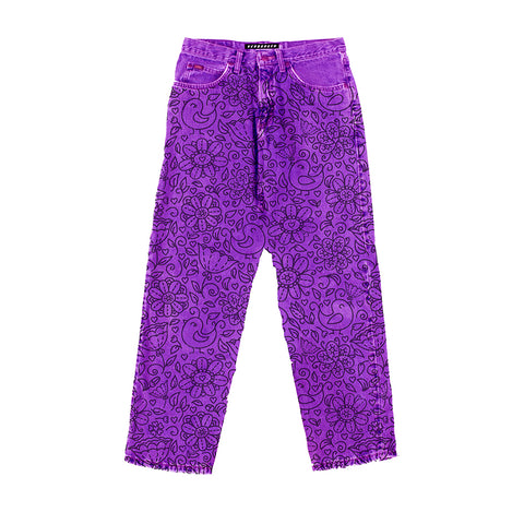 Purflower Jeans (Purple)