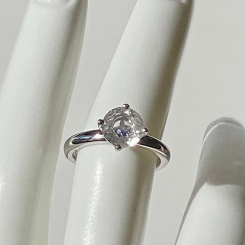 Herkimer Stone In Stone Solitaire Ring