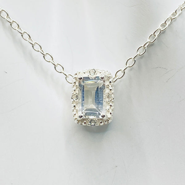 Herkimer Halo Necklace