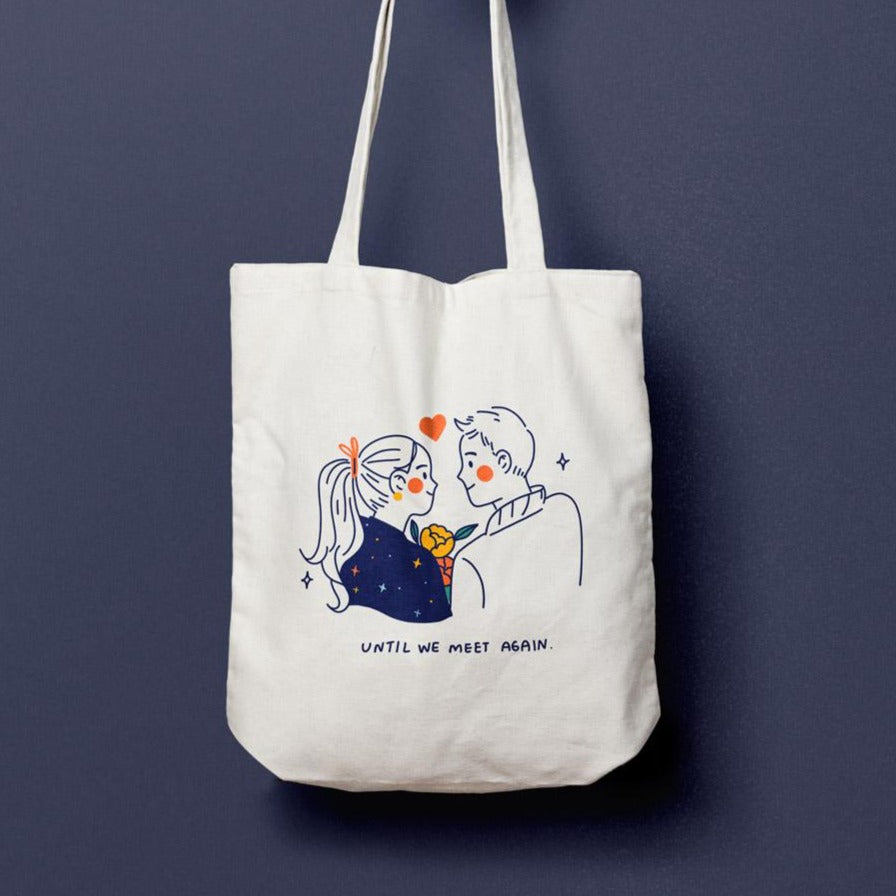 See you again (For couples): Canvas tote bag