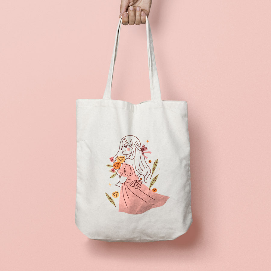 Spring Breeze: Canvas tote bag