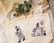 Load image into Gallery viewer, Dog Mom: Fun with lines canvas tote bag collection