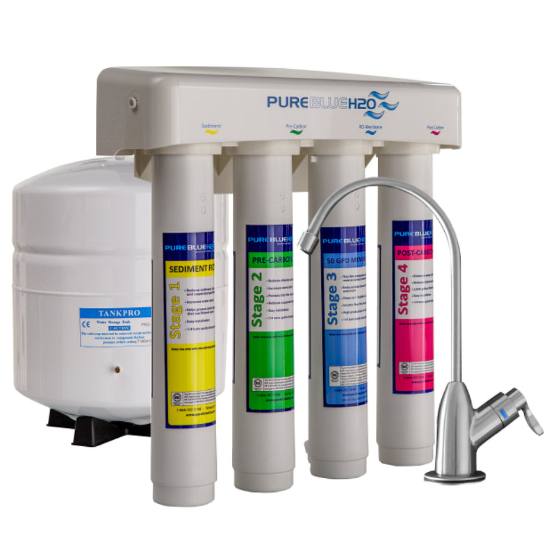PureBlue H2O 4 Stage Reverse Osmosis System,