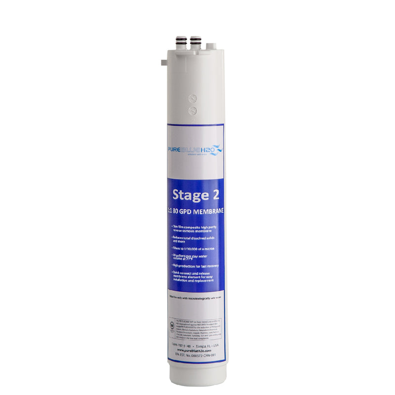 3-Stage Reverse Osmosis System Filter: Stage 2 1:1 Membrane Filter