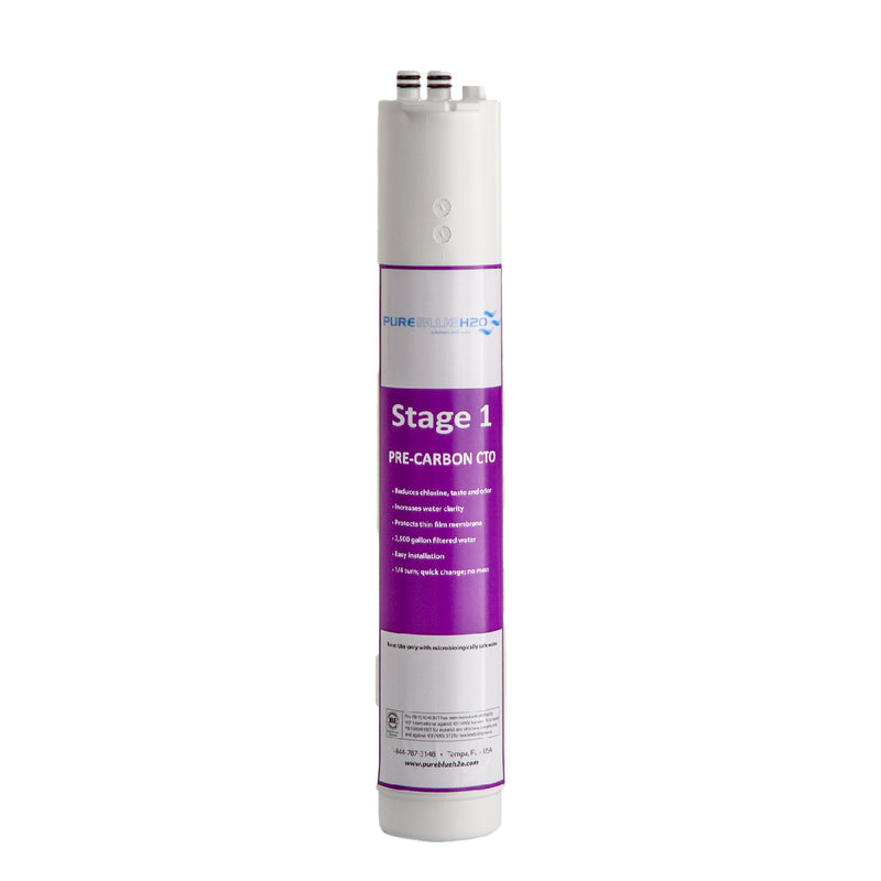 3-Stage Reverse Osmosis System Filter: Stage 1 Pre-Carbon Block
