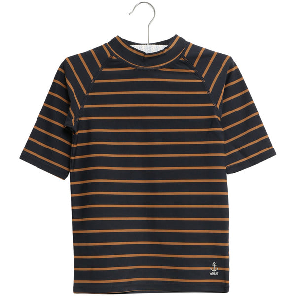 Swim T-Shirt Jackie SS / Midnight Blue Stripe