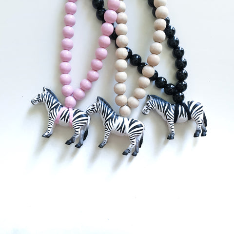 The Zebra Necklace  - More colour options.