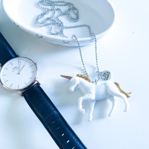 The Mama Necklace White Unicorn