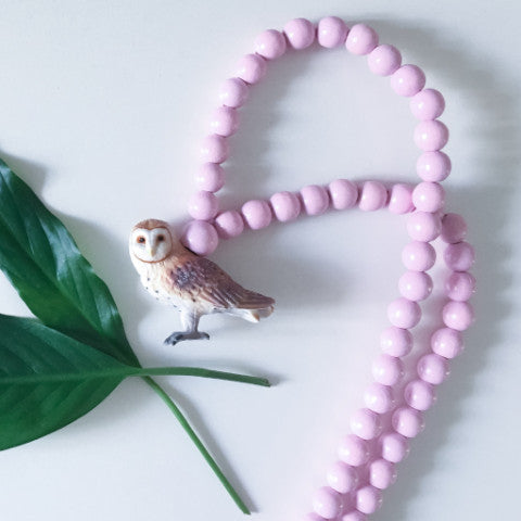 Pray4Trax Necklace Owl Rose Candy Floss