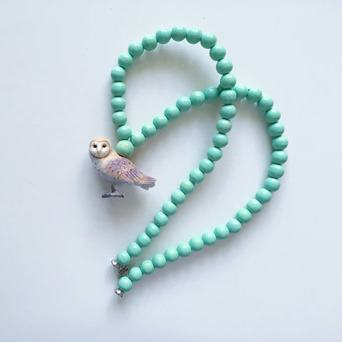 Pray4Trax Necklace Owl Mint
