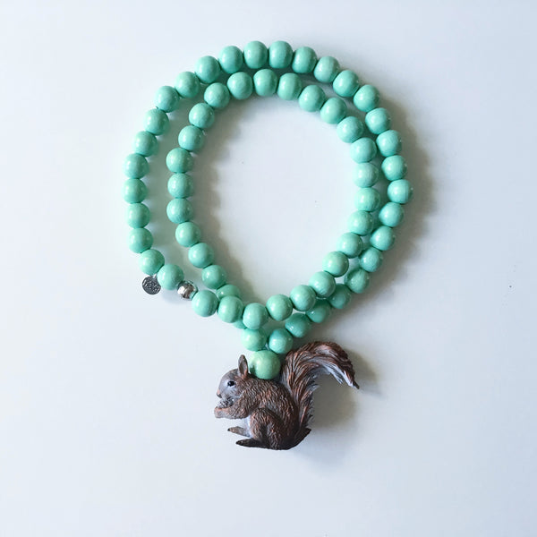 Pray4Trax Necklace Squirrel Mint