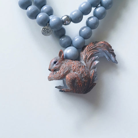 Pray4Trax Necklace Squirrel Grey
