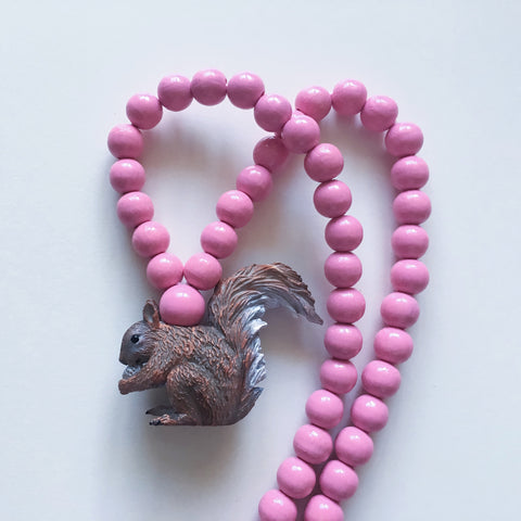 Pray4Trax Necklace Squirrel Rose