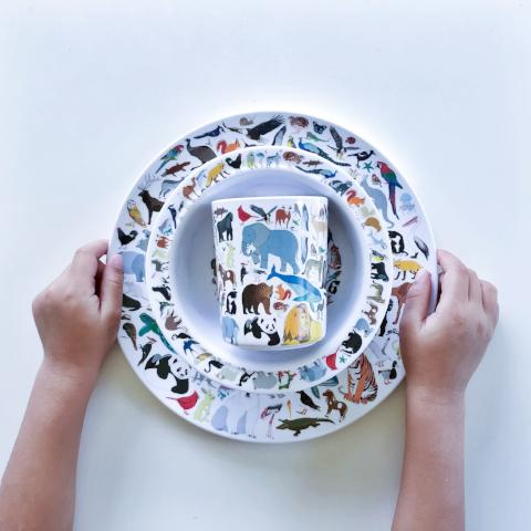 Animal melamine 3 piece set