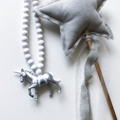 The Silver Unicorn Necklace - More colour options.