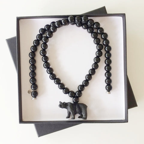 The Pray4Trax Necklace Bear Black