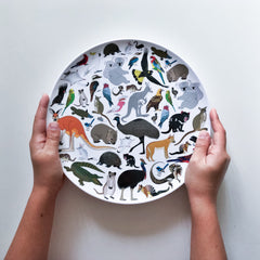Australian Animals 3 piece melamine set