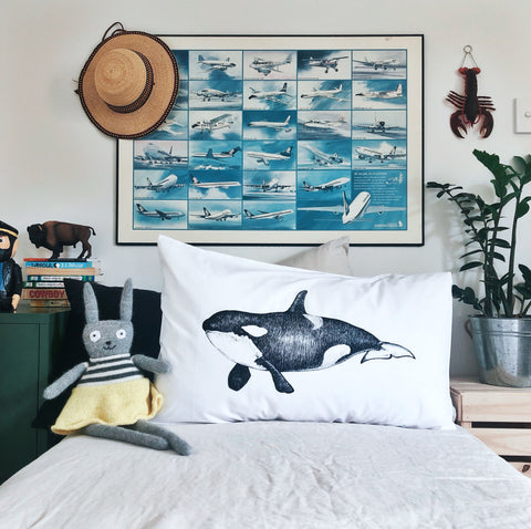 Orca Whale Pillowcase