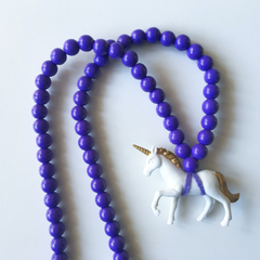 The White Unicorn Necklace - More colour options.
