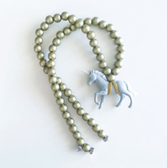 The Grey Unicorn Necklace - More colour options.