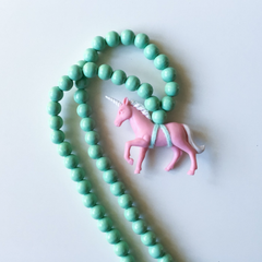 The Pink Unicorn Necklace - More colour options.